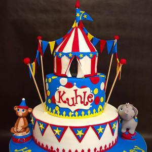 Circus Themed Birthday Cake